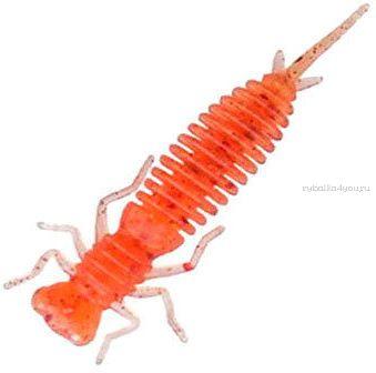 Мягкая приманка Garry Angler Larva 2'' Сыр 50 мм / 0,9 гр / упаковка 10 шт / цвет: Красный с блестками