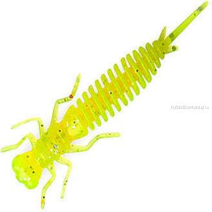 Мягкая приманка Garry Angler Larva 2'' Сыр 50 мм / 0,9 гр / упаковка 10 шт / цвет: Салатовый с блестками