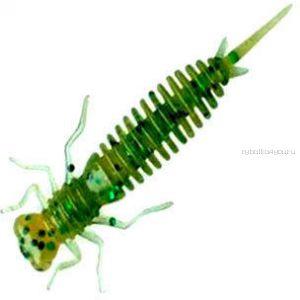 Мягкая приманка Garry Angler Larva 2'' Сыр 50 мм / 0,9 гр / упаковка 10 шт / цвет: Темно-зеленый с блестками