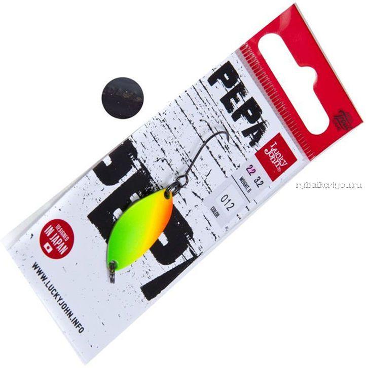 Блесна колебалка Lucky John Pepa 25 мм / 2,2 гр / цвет: 012