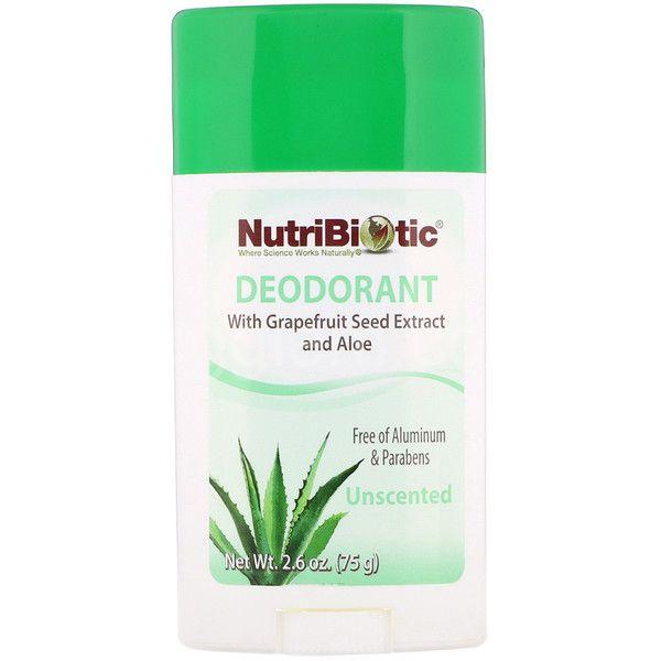 Дезодорант без запаха Nutribiotic,75 грамм