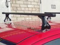 Багажник на крышу Skoda Fabia MK1 хэтчбек, Delta, стальные прямоугольные дуги
