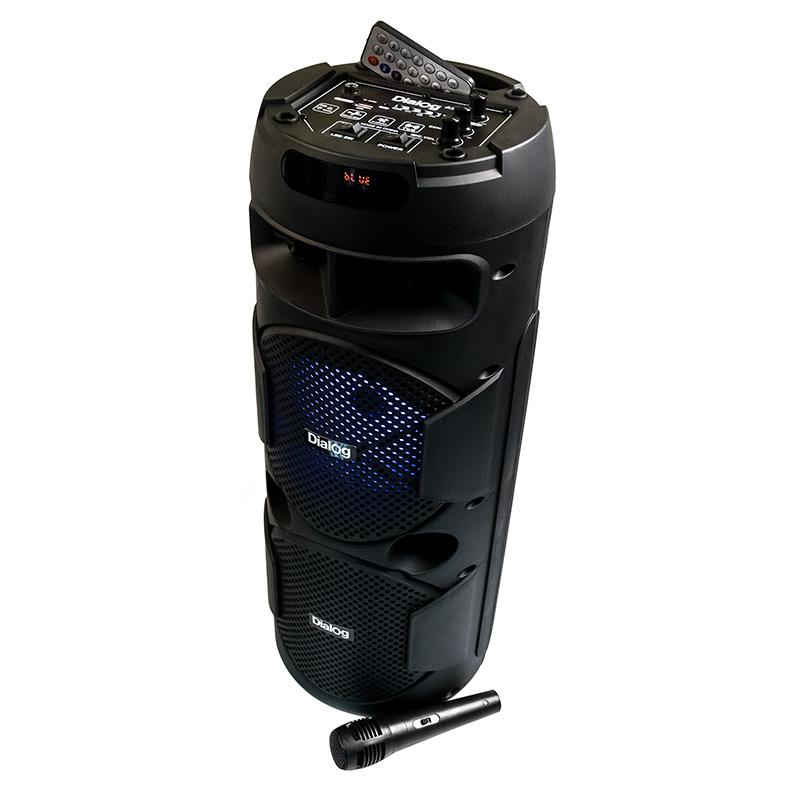 Активная напольная колонка Dialog Oscar AO-10 - 20W RMS, Караоке c микрофоном, BT+FM+USB+SD+LED
