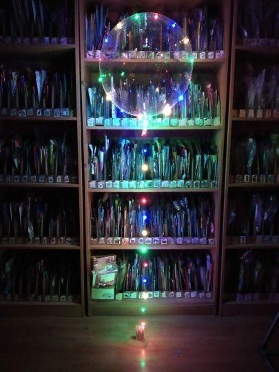 Шар Бабл светящийся с гелием