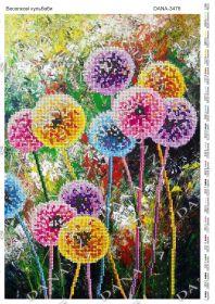 Dana DANA-3476 Радужные Одуванчики схема для вышивки бисером купить в магазине Золотая Игла