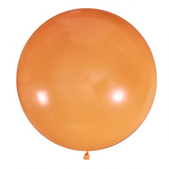 Оранжевый метровый шар латексный с гелием