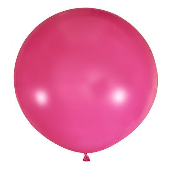 Фуксия метровый шар латексный с гелием