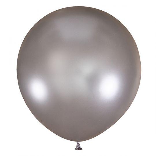 Серебряный гигантский шар латексный с гелием