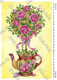Dana DANA-3463 Чайные Розы схема для вышивки бисером купить в магазине Золотая Игла