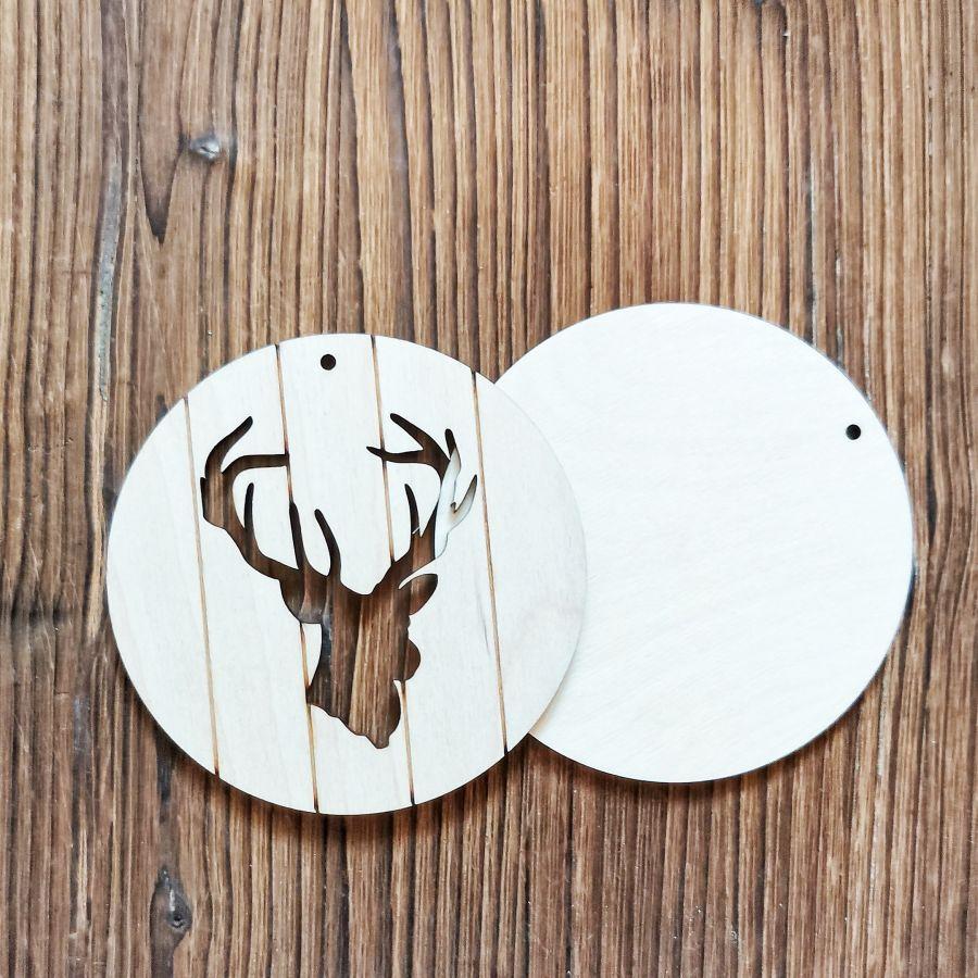 Елочная игрушка с пропилами Голова оленя