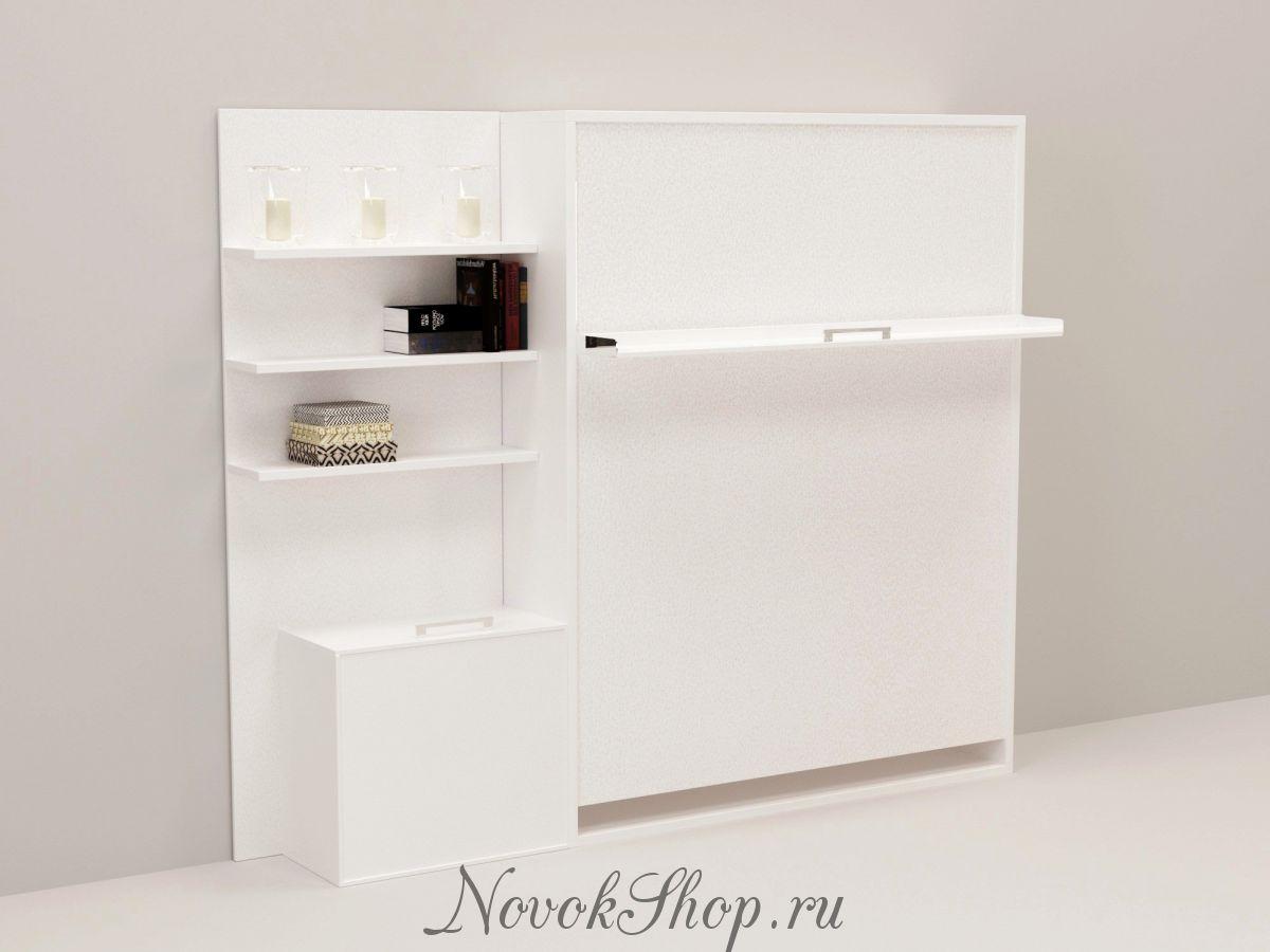 Шкаф-кровать с полками