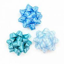 Бант Звезда, Голубой микс, 7 см, 12 шт.