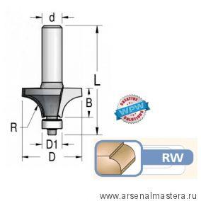 Фреза радиусная подшипник R6,3 D25,4 B11 хвостовик 12 WPW RW06002