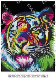 Dana DANA-3449 Радужный Тигр схема для вышивки бисером купить в магазине Золотая Игла