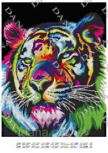 DANA-3449 Dana. Радужный Тигр. А3 (набор 1375 рублей)