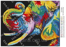 Dana DANA-3451 Радужный Слон схема для вышивки бисером купить в магазине Золотая Игла
