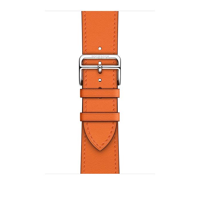 Ремешок Apple Watch Hermès Orange Swift Leather Single Tour из кожи (для корпуса 44 мм)