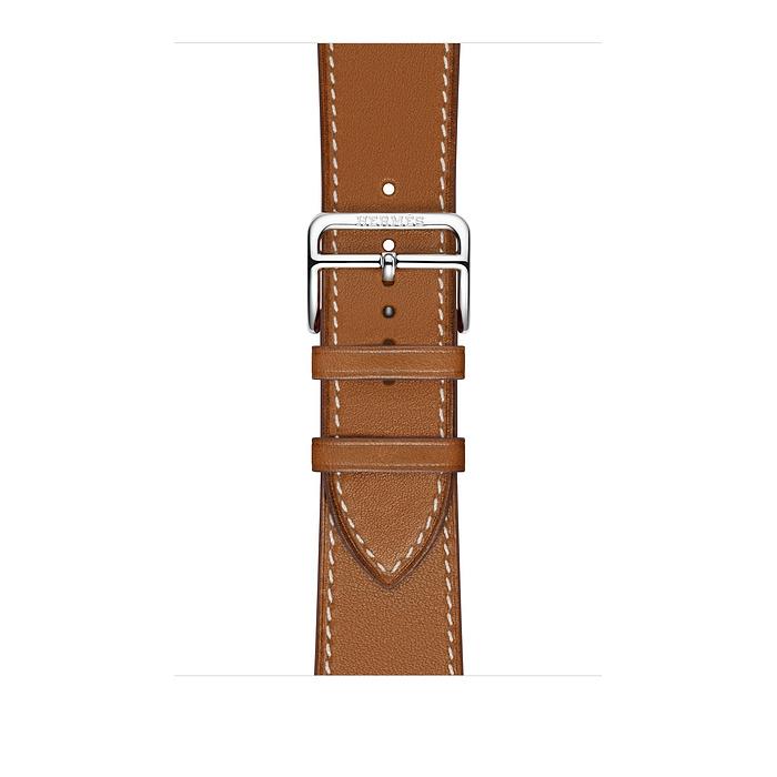 Ремешок Apple Watch Hermès Fauve Barénia Leather Single Tour из кожи (для корпуса 40 мм)