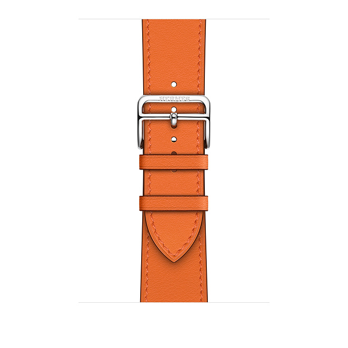 Ремешок Apple Watch Hermès Orange Swift Leather Single Tour из кожи (для корпуса 40 мм)