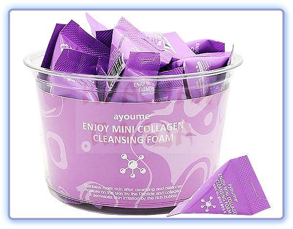 Пенка для умывания с коллагеном Ayoume Enjoy Mini Collagen Cleansing Foam