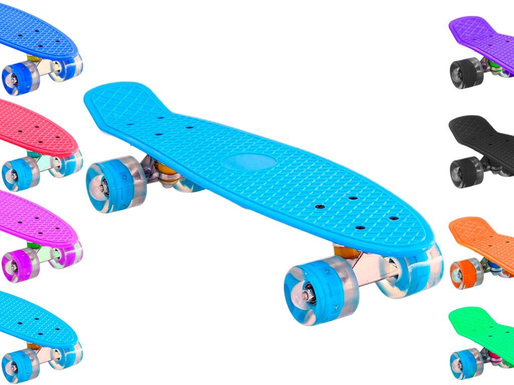 Скейт со светящимися колёсами, артикул 00100