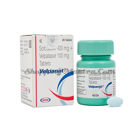 Велпанат (Софосбувир 400мг/ Велпатасвир 100мг) Натко Фарма | Natco Pharma Velpanat (Sofosbuvir 400mg/Velpatasvir 100mg)