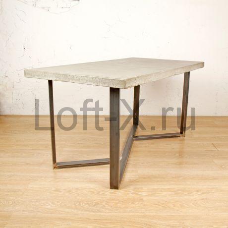 """Обеденный стол  - """"Alexus"""" с бетонной столешницей."""