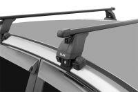 Багажник на крышу Toyota Alphard 2002-2008, Lux, стальные прямоугольные дуги