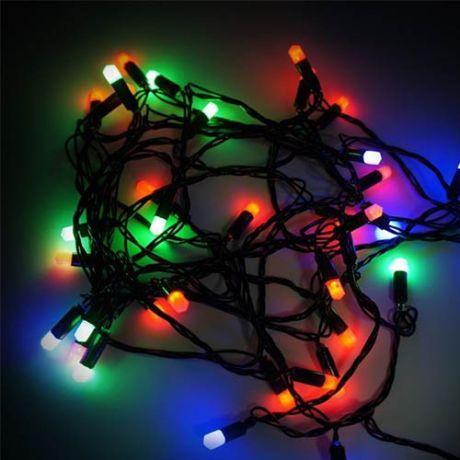 Разноцветная светодиодная гирлянда-нить 28 ламп, 5,3 м