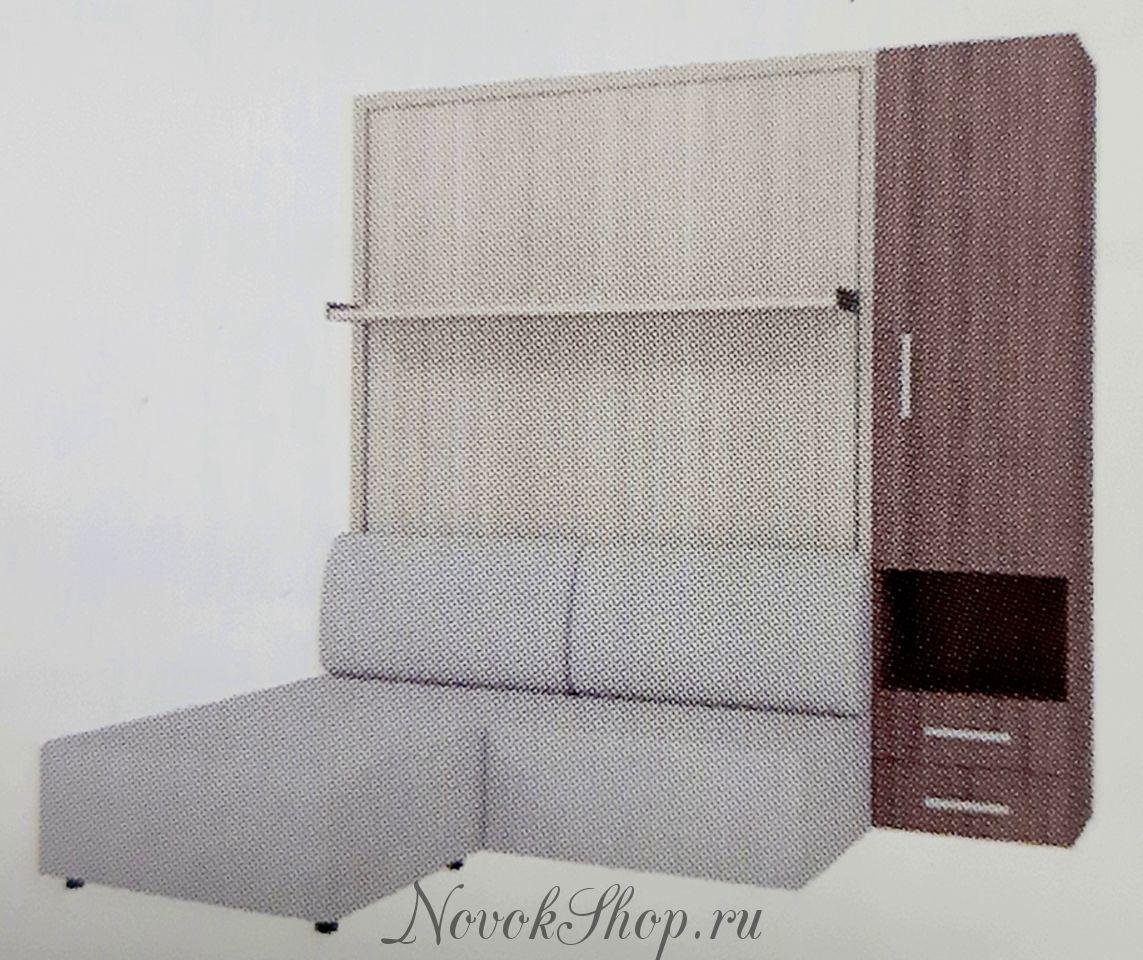 Шкаф-диван-кровать СМАРТ-1 + пенал + пуф