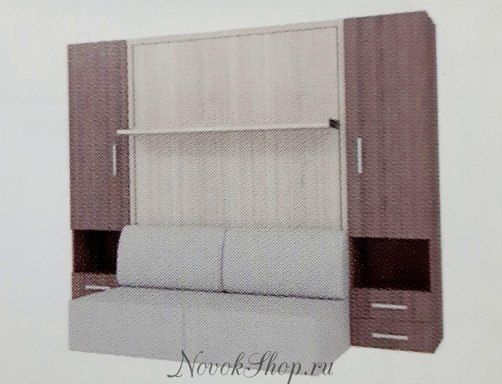 Шкаф-диван-кровать СМАРТ-1 + 2 пенала