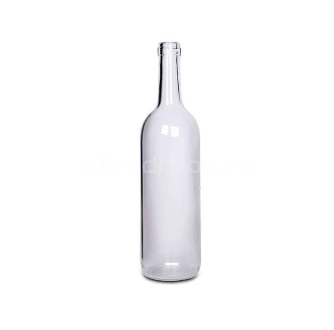 Винная бутылка Бордо (прозрачная) 0,75 л. 12 шт.