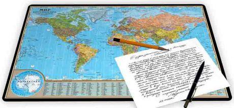 Коврик для письма «Мир политический»