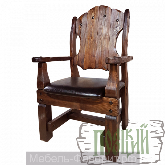 """Кресло """"Добряк"""" (кожа)"""