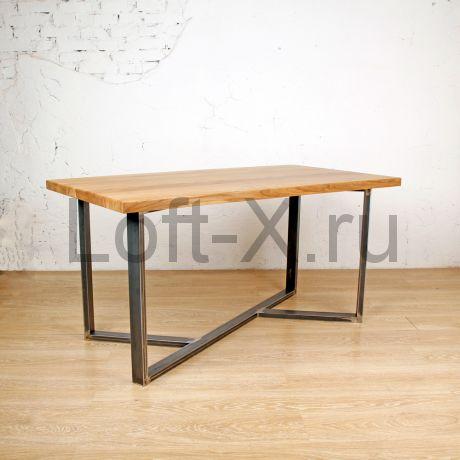"""Обеденный стол - """"Alexus"""" с деревянной столешницей"""