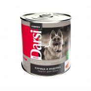 """Darsi Консервы """"Курица и индейка"""" для взрослых собак, паштет, 850г"""