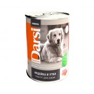 """Darsi Консервы """"Индейка и утка"""" для собак с чувствительным пищеварением, паштет, 410г"""