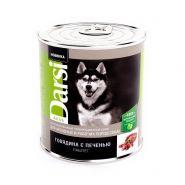 """Darsi Консервы """"Говядина с печенью"""" для активных и рабочих собак, паштет, 850г"""