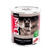 """Darsi Консервы """"Говядина с сердцем"""" для взрослых собак, паштет, 850 г"""