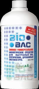 BIO BAC BB-Z150 Зимнее средство для выгребных ям, септических, дренажных систем и труб (1 л) - все для сада, дома и огорода!