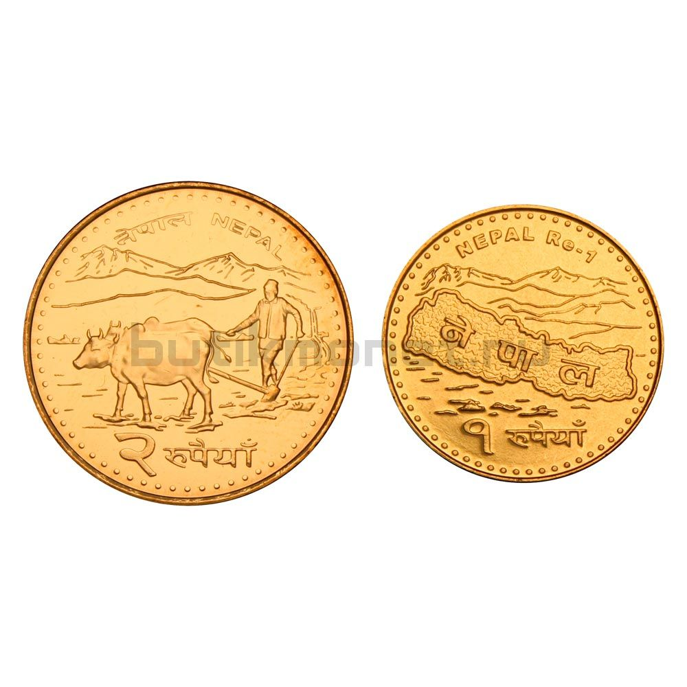 Набор монет 2009 Непал (2 штуки)
