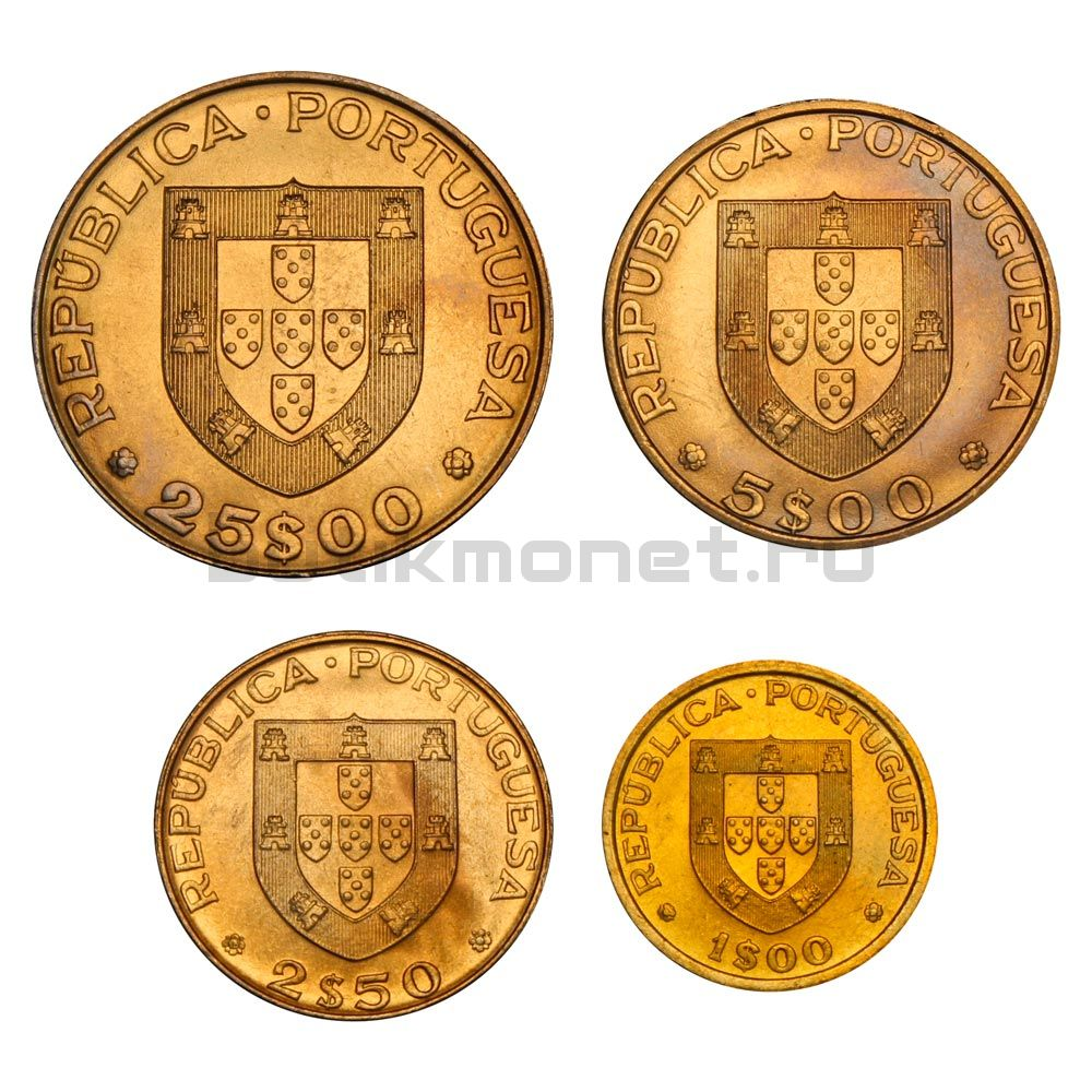 Набор монет 1982 Португалия Хоккей с мячом (4 штуки)