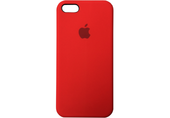 Apple silicon case для iPhone 5/5s/se (красный)