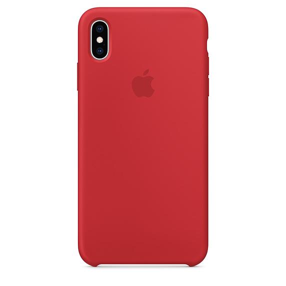 Cиликоновый чехол Apple для iPhone X/10 (красный)