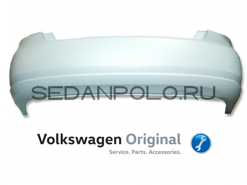 Бампер задний Volkswagen Polo Sedan 2010-2015