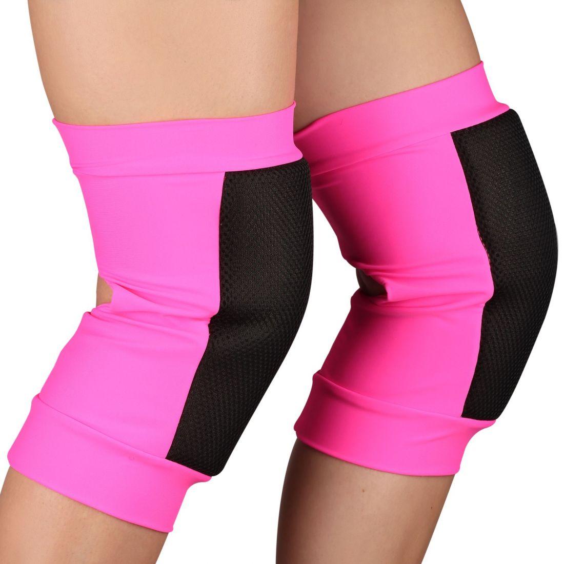 Наколенники для танцев и гимнастики INDIGO SANDRA SM-378 сетка розовые