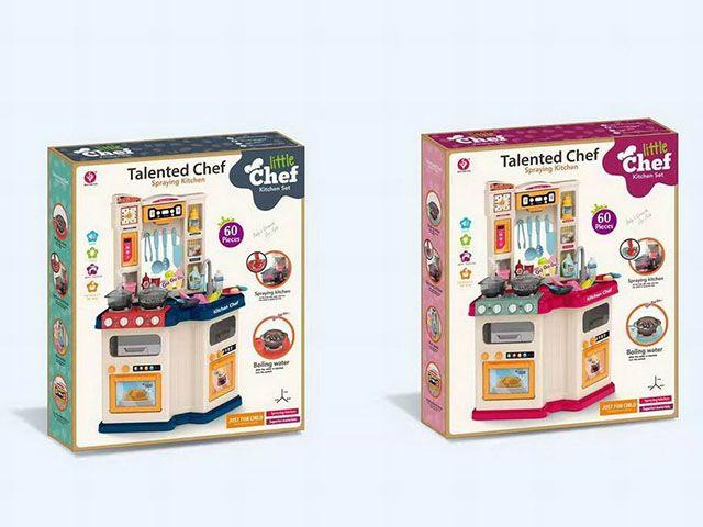 922-110/111 Детская кухня с водой и паром Kitchen Chef 78,5 см. угловая