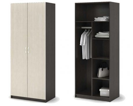 Спальня БАСЯ ШК 556 шкаф с перегородкой