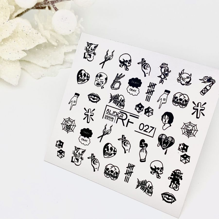 Слайдер дизайн SLIDER RF design nails (74мм х 71мм) -027- СЛАЙДЕР РФ