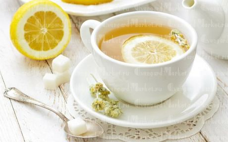 Чай (чай пакетированный, сахар, лимон)
